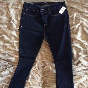 Express midrise jeans dark blue jeans. NWT